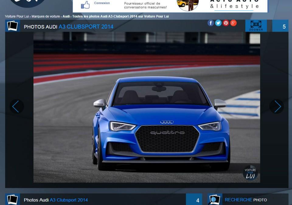 L'Audi A3 Clubsport : sensations fortes garanties !